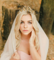 Gold Bridal Crown Tiara