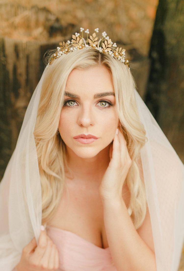 Gold Bridal Crown Tiara