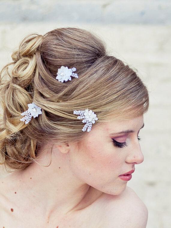 wedding hair pins flower hair pin set