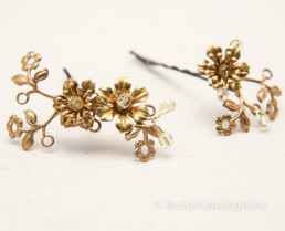 vintage gold hair pins brass hair accessories bridal headpiece bridesmaids hair accessories