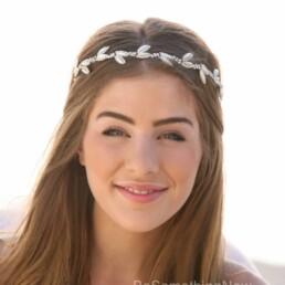 pearl and rhinestone wedding headband simple tiara for your wedding day