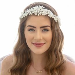 vintage wax flower tiara, bridal wedding crown