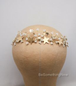 gold star celestial wedding crown bridal tiara