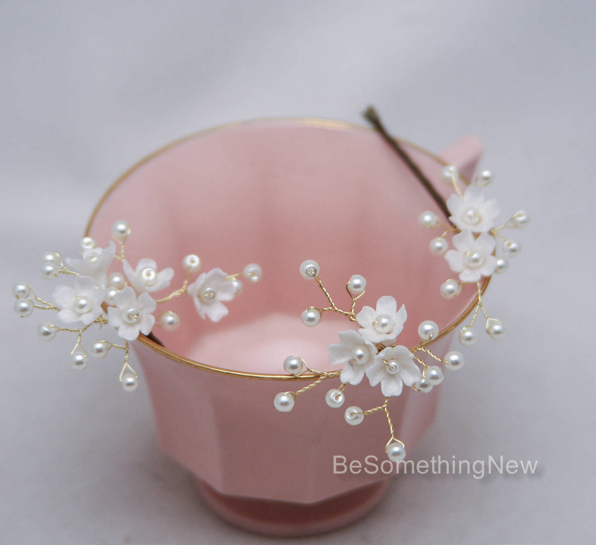 Flower Hair Pins For Wedding: Wedding Hair Pins Of Flowers And Pearls Bridal Hair Pin
