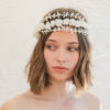 flower crown, vintage flowers wedding headpiece