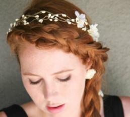 woodland flower crown pip berry wreath bridesmaids halo headpiece back yard wedding boho
