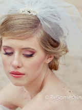 Short Wedding birdcage tule veil