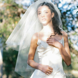 wedding veil with scattered pearl clusters two tier veil for your wedding day bridal veil