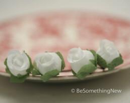 white rose Bobby Pins bridal hair pins bridesmaid hair pin set roses
