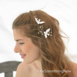 Love Birds Hair Pins Bobby Pin, Set of two bobby pins wedding hair clips bridal headpiece