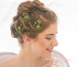 Succulent Bobby Pin Set, Wedding Hair Bobby Pins, Bohemian Rustic Wedding Hair Accessory artificial green succulent bridal hair acceories