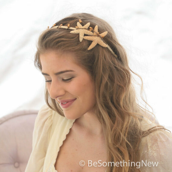 starfish headband beach hair accessory bridesmaids hair accessory