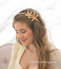 starfish headband beach hair accessory bridesmaids hair accessory