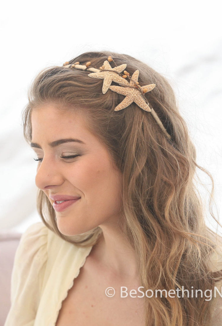 Starfish Headband Beach Wedding Hair Accessory2