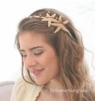 Bridal Starfish Headband Beach Wedding Hair Accessory