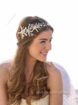 bridal headpiece starfish wreath