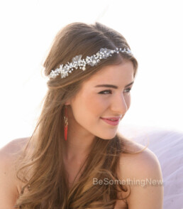 Pearl and Rhinestone Wedding Hair Vine