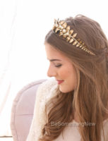 Gold Bridal Wedding Headband