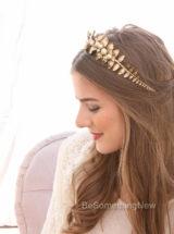 Gold Bridal Wedding Headband