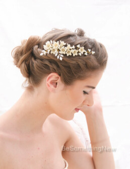 Bridal Hair Vine Pearl and Flower Vintage Inspired Wedding Hair Decorative Comb