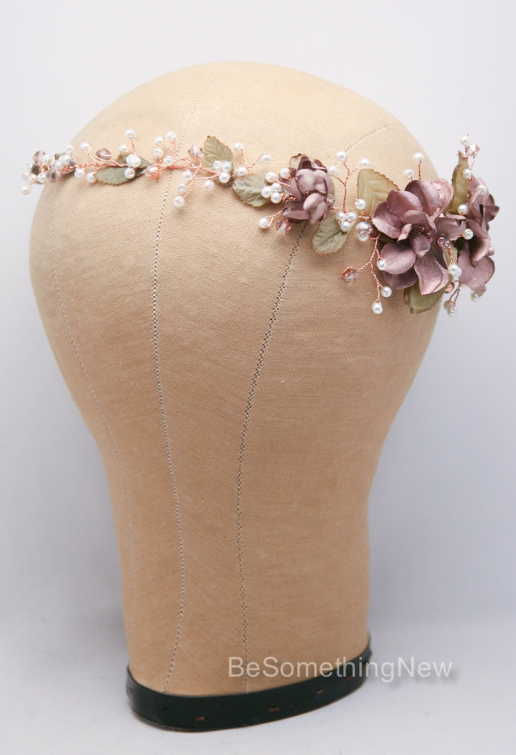 Rose Gold Hair Vine Of Flowers And Pearls Be Something New