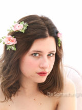 Bridal flower hairpins with baby's breath set of 3