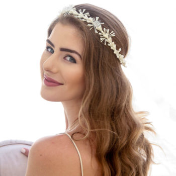 Vintage Wax Flower Wedding Crown