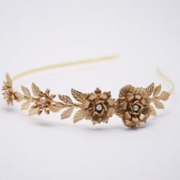 gold metal grecian headband wedding hair accessory boho wedding headband tiara
