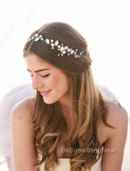 rhinestone hair vine wedding headpiece bridal rhinestone wired headband