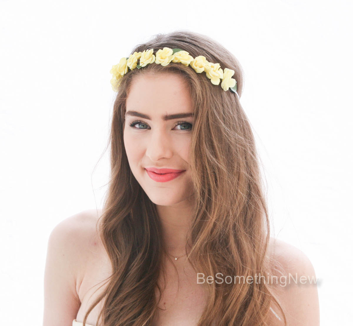 Yellow vintage rose flower crown floral headband bridesmaids hair flower crown vintage yellow floral wreath bridesmaid headband flower girl halo izmirmasajfo