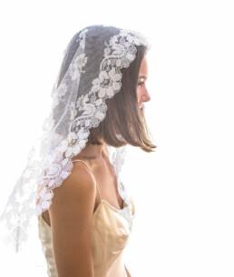 vintage veil, mantilla veil, all lace veil