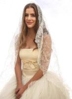 vintage all lace veil circle mantilla veil made in spain vintage bride