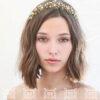 gold metal tiara wedding headpiece gold flower crown