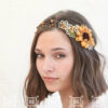 sunflower wedding flower crown rustic wedding headpiece