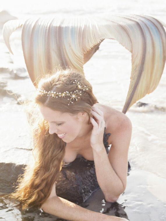 beach wedding, mermaid wedding, star headpiece,