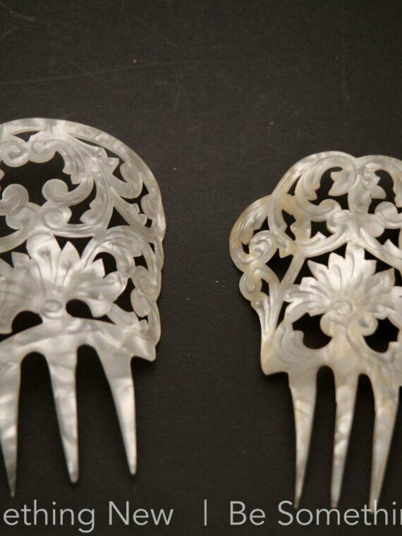 ivory vintage mantilla comb