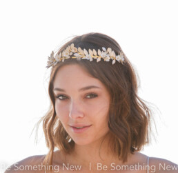 gold and ivory leaf tiara