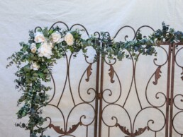 Eucalyptus Garland with Ivory Flowers Wedding Floral wedding arch decoration, Long False Leaves Wedding Backdrop