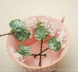 succulent flower hair pins hair pin set of four bridesmaid hair accessories boho wedding hair
